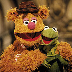 Kermit+The+Frog++Fozzie+Bear+Jim+Henson+Frank+Oz+ker+foz