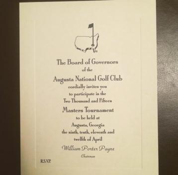 masters invite